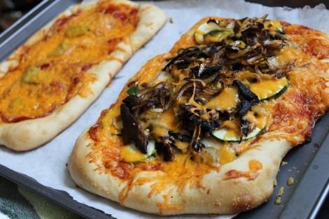 Homemade Pizza - cheap and easy (and healthy!) This one is sauteed mushroom & zucchini