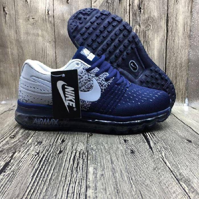 Hot Nike Air Max 2017 Netflix LUNARLUNCH Deep Blue Grey Sneakers