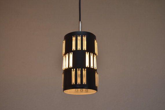Lampadario con vetro tubi Dutch design anni ' di HildehoffDesign