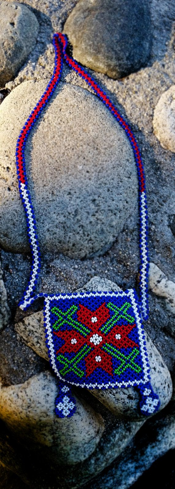 Huichol Necklace by Niktee on Etsy