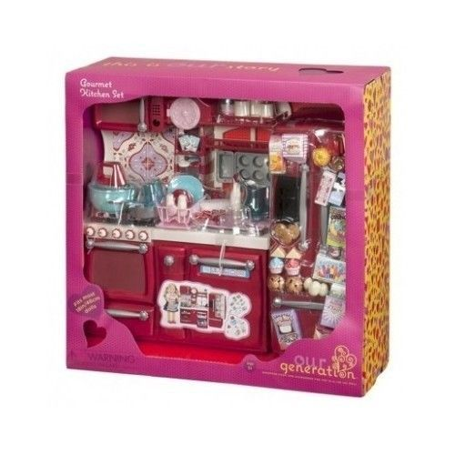 new our generation gourmet kitchen set for girl 18 dolls new toy girl play fun new girl. Black Bedroom Furniture Sets. Home Design Ideas