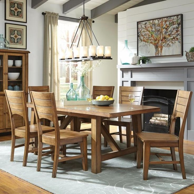 The Canyon Pecan Extension Dining Table Is A Big Bold Comfortable Its Made From Solid Wood And Finished In Rich