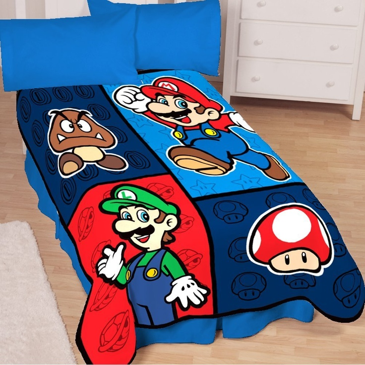 im gonna buy this after work today: Kids Beds, Boys Bedrooms, Videos Games, Future Kids, Mario Brother, Home Kitchens, Mario Bros, Super Mario, Throw Blankets