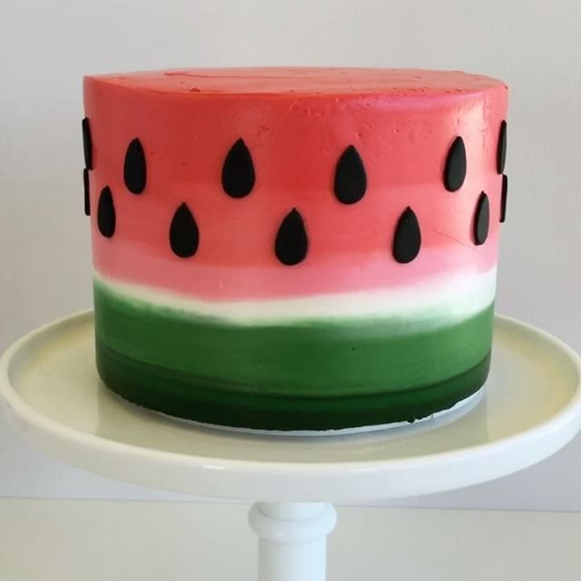 Pin for Later: Watching These Cake Decorating Videos Is the Most Satisfying Thing You'll Do All Day Watermelon