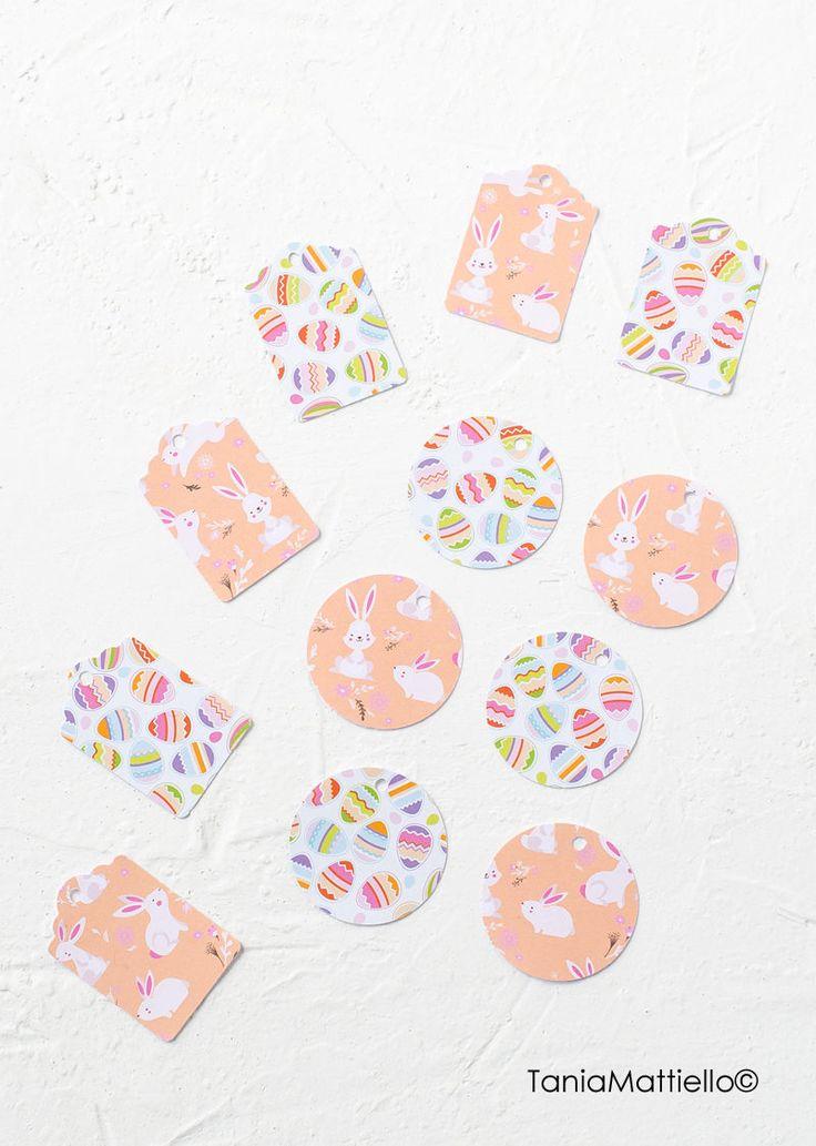 12 Etichette di Pasqua in Carta Decorata Motivi Pasquali-Chiudipacco-Tag-Uova-Conigli-Colorata-Etichette Tonde-Pacco Regalo-Idea-Compleanno di BolleDiCarta su Etsy