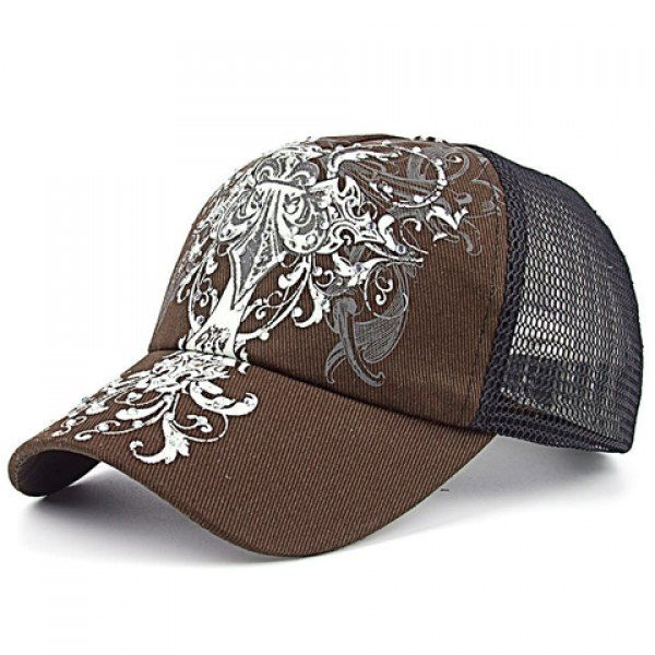 Chic Openwork Mesh Vintage Convoluted Pattern Baseball Cap For Women #men, #hats, #watches, #belts, #fashion