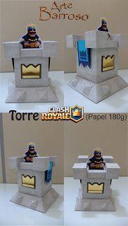 ARTE BARROSO: DECORAÇÃO GAMES. Torre Clash Royale e Topo de Bolo...