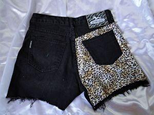Shorts Jeans com renda Onça R$60,00. - Tamanhos 36 a 44 (+). - Preto e Azul.