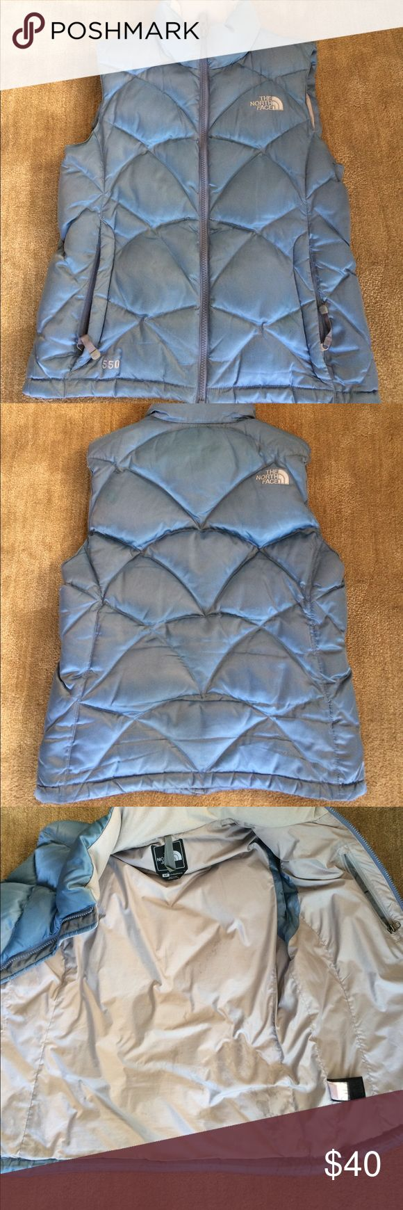 North Face Down Vest 550 Down Fill - Good Condition. Signs of Wear on the inside of the vest. North Face Jackets & Coats Vests