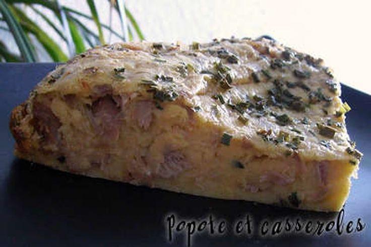 Clafoutis moelleux-fondant thon et ciboulette