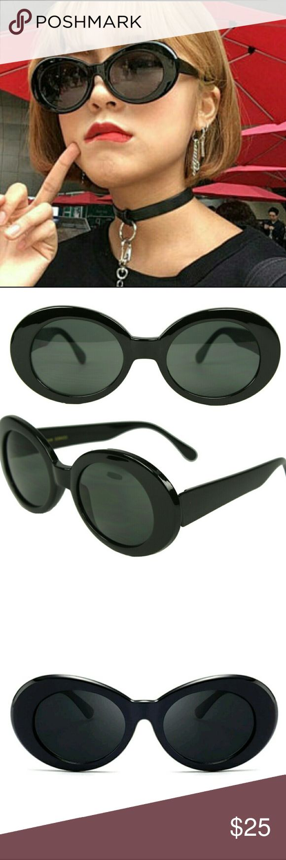 🔥Sale Black Cobain's 🔥 New Vintage Retro Oversized Kurt Cobain's. Excellent Quality. Unisex for Men and Women. Trending Now. All the Stars are wearing these. Get yours today while supplies last. Make me a reasonable offer. Accessories Glasses