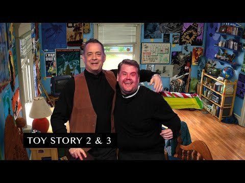 On a recent episode of The Late Late Show, the great Tom Hanks and host James Corden reenacted all of the movies from Hanks' impressive career in less than seven minutes. The duo quickly changed ou...