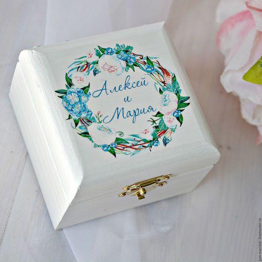 Шкатулка на свадьбу  Шкатулка для обручальных колец  Свадебная шкатулка