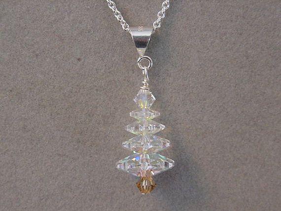 Christmas Jewelry necklace  Swarovski Crystal by magiccloset, $16.00