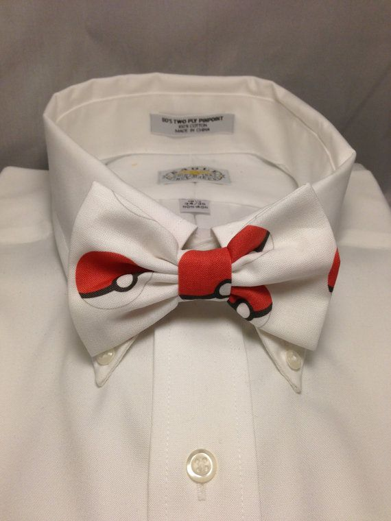 Pokemon Pokeball Print Bowtie / Bow Tie by 2Marys on Etsy, $10.00