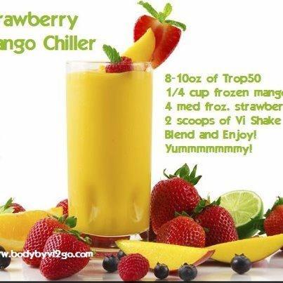 Strawberry Mango Visalus Shake Recipe