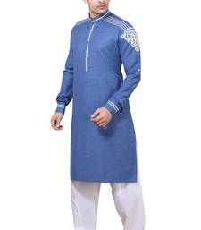 Buy Navy Pathani Suits anniversary-gift online