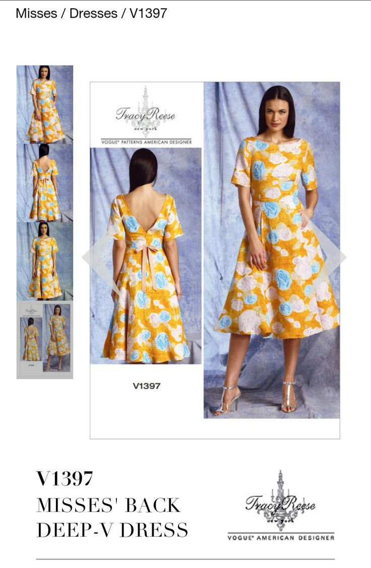 338 best sew easy images on pinterest casual clothes comfy buy vogue tracy reese womens dress sewing pattern 1397 from our sewing patterns range at john lewis jeuxipadfo Choice Image