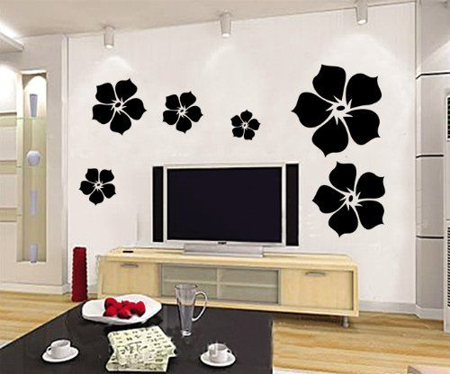 Wallmates Wall Decal Decoration Flower Parlor Stickers Vinyl Removable Home  Paper Mural Wallmates Http:/