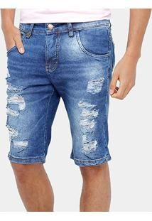 0b4e03ad5 Resultado de imagen para bermuda jeans masculina rasgada