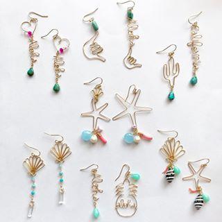 * * こちらもweb用にお作りしたので4月上旬販売させていただきます。 販売日時はまたお知らせします♡ * * #ハンドメイド #ハンドメイドジュエリー #ハンドメイドピアス #ハンドメイドアクセサリー #handmade  #handmadejewelry  #hawaiianjewelry #handmadeaccessory  #beachjewelry#beachstyle #ワイヤー #ワイヤージュエリー #ワイヤーアクセサリー #ワイヤーピアス #ビーチアクセサリー #ビーチジュエリー #ハワイアンアクセサリー #ハワイアンジュエリー #海を感じるアクセサリー