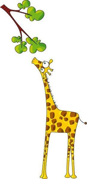 Sticker déco Madame Girafe 110x200