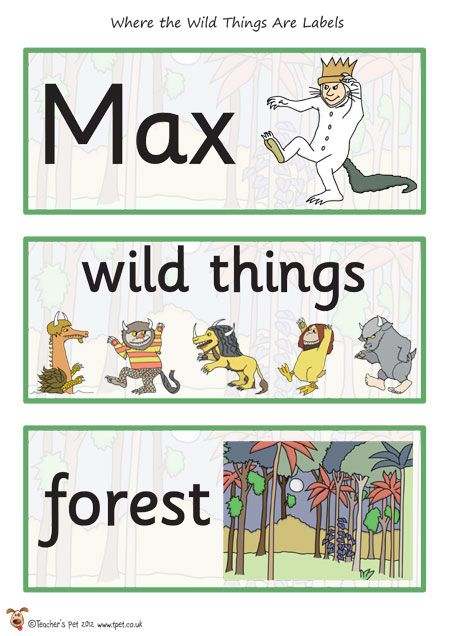 Teacher's Pet - Where the Wild Things Are Cut Outs - FREE Classroom Display Resource - EYFS, KS1, KS2, monster, monsters, story, stories