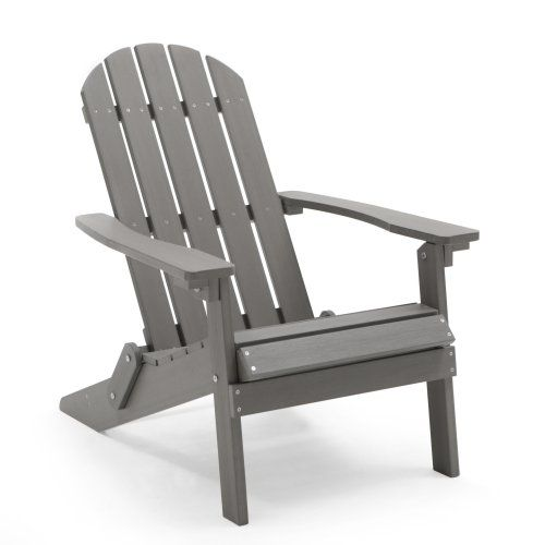 Belham Living All Weather Resin Wood Adirondack Chair   Gray