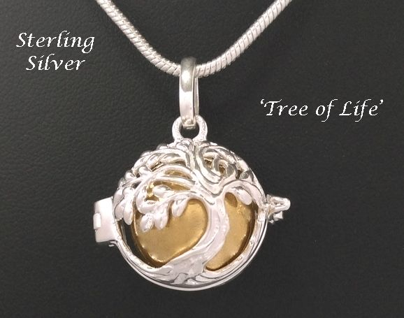Mothers Day Gift - Harmony Ball Sterling Silver Tree of Life Beautiful Chiming Harmony Ball with a wonderful 925 Sterling Silver 'Tree of Life' forming the hinged cage which houses a Brass Chime Ball. This genuine 925 Sterling Silver Chiming Harmony Ball, Hand Crafted in Bali by skilled Artisans, produces a wonderful Soothing Chime sound as it moves with you creating an air of Harmony. Available from www.mothersdayaustralia.net.au or www.harmonyballpendant.com #mothersday #harmonyball…