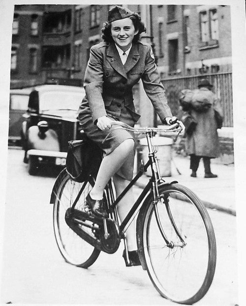 Kathleen Kennedy in London during World War II working for the Red Cross.