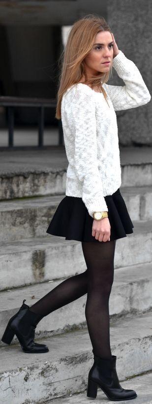 Cute way to wear a sweater.