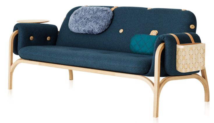 Button Sofa is  modular functional piece that can accomodate many accessory attachments, is easy to clean and adapts to your needs