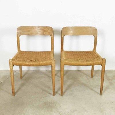 Model 77 Dinner Chair by Niels O. Møller for Møller Models