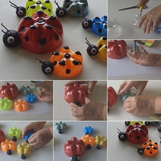 Plastic Bottle Ladybugs Tutorial