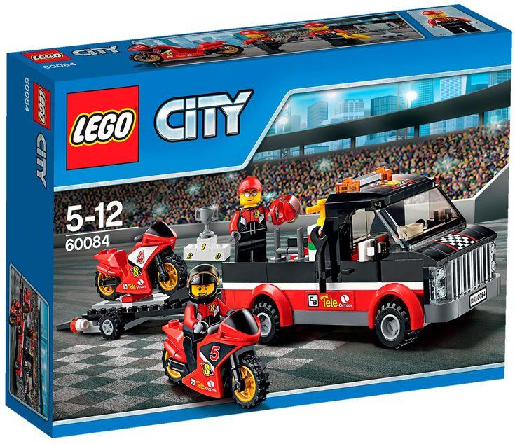 Comparez les prix du LEGO City 60084 Le transporteur de motos de course avant de l'acheter ! Infos, description, images, vidéos et notices du LEGO 60084 Le transporteur de motos de course sur Avenue de la brique
