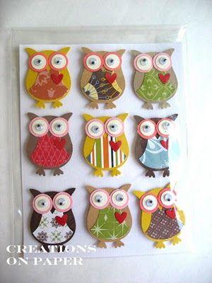 Owl Embellishments  JR