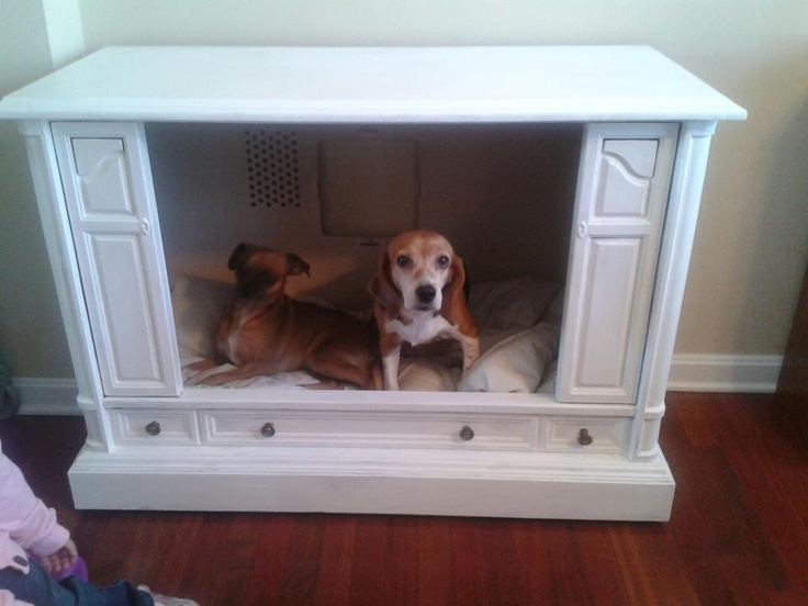 upcycled tv console now a dog bed for sale 80 pick up only located in catonsville md fun. Black Bedroom Furniture Sets. Home Design Ideas