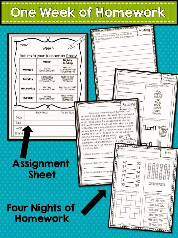 2nd Grade Homework Quarter 1