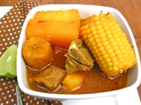 Sancocho de Cerdo (Colombian Pork Soup) You can also make it with beef, chicken or fish ... Yummm!!!