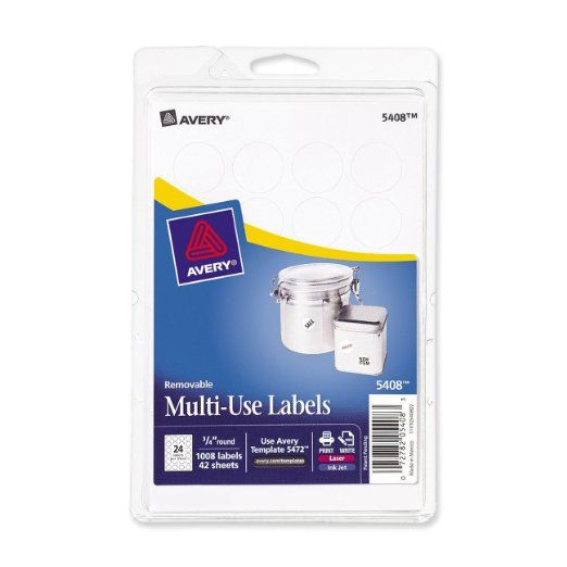 Avery removable print or write labels for laser and inkjet for Avery template 5472
