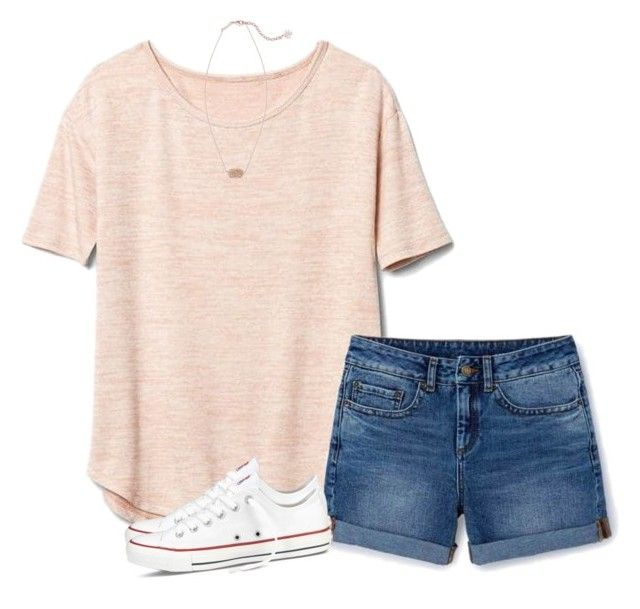 """N O"" by sc-prep-girl ❤ liked on Polyvore featuring Gap, Boden, Converse and Kendra Scott"