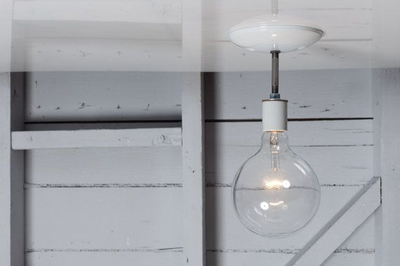 Industrial Ceiling Light Semi Flush Mount por IndLights en Etsy