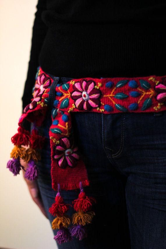 Correa Bordada, Cinturon Rosado, Cinturon Peruano
