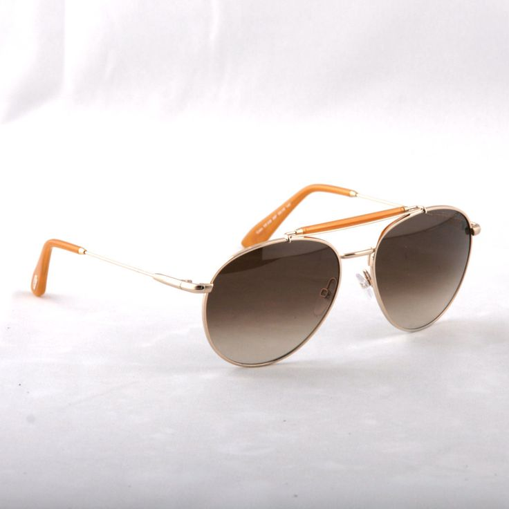 TOM FORD -Colin TF338 28F Aviator ROSE GOLD/ORANGE METAL Sunglasses
