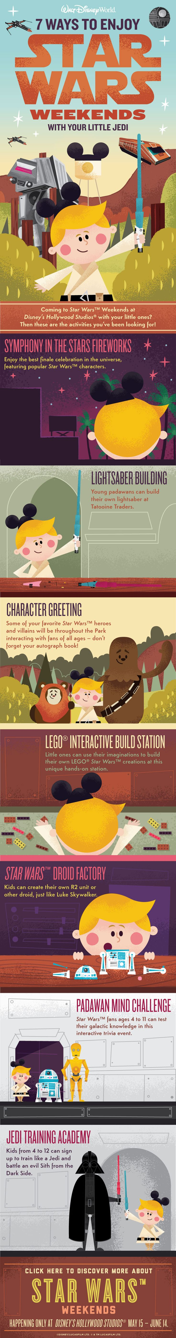Don't miss Star Wars Weekends at Disney's Hollywood Studios, now through June 14, 2015! Enjoy out of this world entertainment including talk shows, celebrity motorcade and a spectacular fireworks show that the Rebel Alliance would approve of. See how your toddler can enjoy this seasonal event just as much as you with these great tips!
