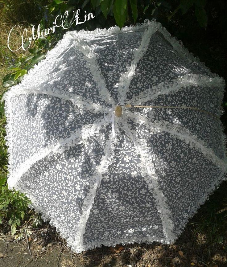 Hochzeits Regen Spitzen Sonnen Schirm Rüschen Nostalgie Vintage Chabby Chic | eBay
