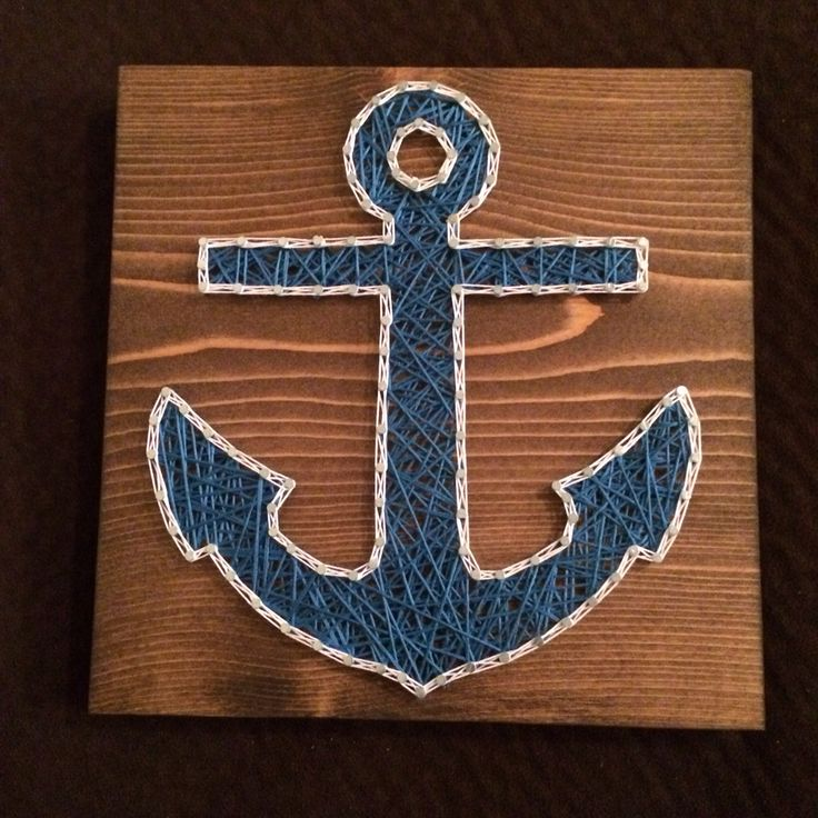 Anchor string art (Ocean/Nautical)- Order from KiwiStrings on Etsy! ( www.KiwiStrings.etsy.com )