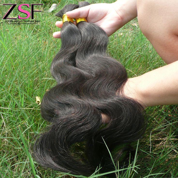 Длина Mix Китайский Человеческих Плетение Волос Основная 100 г Объемная Волна Большое Часть человеческих Волос Для Плетения 100% Человеческих Волос Бесплатно доставк�