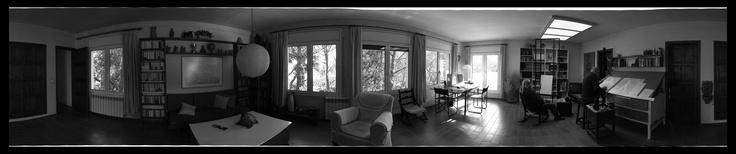 360º del estudio del pintor Joan Claret en Sant Feliu de Guíxols.