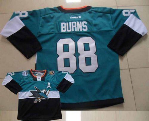 Sharks #88 Brent Burns Teal/Black 2015 Stadium Series Stitched NHL Jersey